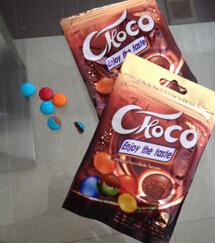 Хрустящий конфеты шоколад с покрытием бобов сладкие кондитерские изделия