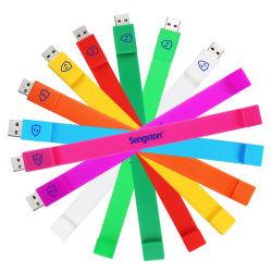 Bastone su ordinazione di memoria dell'azionamento dell'istantaneo del USB di simbolo del regalo del braccialetto del bastone istantaneo di gomma molle del USB