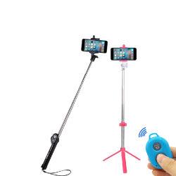 هاتف خلوي 3 في 1 متعدد الوظائف مزود بتقنية Bluetooth/كاميرا محمولة ثلاثي القوائم/عصا الصورة الذاتية أحادية الصورة مع مصباح فلاش الوظيفة