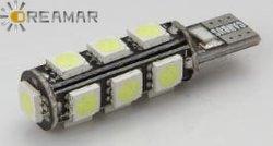 6500k 222.3lm의 T10-5050 LED 조명 자동 전구