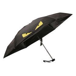 21 pouces de revêtement en vinyle anti UV Promotion Sun cadeau de pliage parapluie Mini cinq