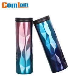 CL1C-E385-C Comlom 16oz Vente en gros la forme en diamant tasse vide en acier inoxydable insulté mug