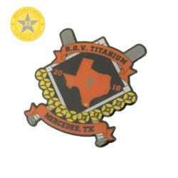 X-Ewige Geschenke Wholesale Metallfertigkeiten kundenspezifischen Entwurfoffsetsilkscreen-Auflage-Drucken-Medaillen-Abzeichen-ReversPin