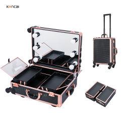 알루미늄 뷰티케이스 세트에는 트레이 및 서랍식 알루미늄 외관 포함 도구 상자