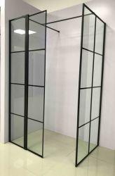 Bnwd900-Blk Matt Schwarzes gestaltete 8mm ausgeglichenes das Glasfenster Wetroom Panel