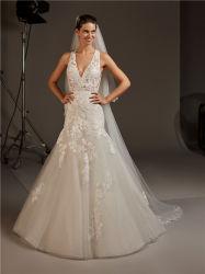 方法高品質の女の子の女性女性の人魚のプロムの夕方のウェディングドレスの花嫁衣装