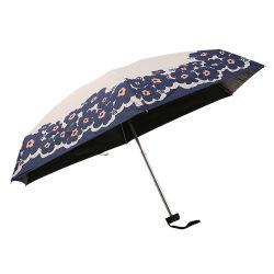 Logotipo personalizado anti UV Senhores verão Leve, fácil de transportar e de viagem compacta mini cinco guarda-chuva dobrável
