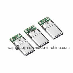 Spina 4.5A a corrente forte del USB del connettore maschio del USB di l$tipo C 2.0 di alta qualità