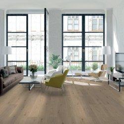 En bois gris en PVC étanche Spc planchers laminés de cuisine