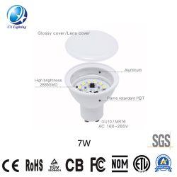 Riflettore 220-240V di Non-Dimmable della superficie della vite della lampada SMD 7W del LED GU10