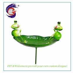 Metallfertigkeiten, die ringsum grüne Vogel-Zufuhr-Stange für Garten-Dekoration hängen