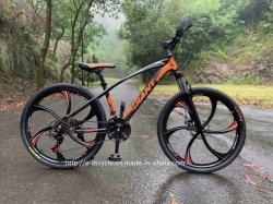 Une roue de bicyclette du hacheur de paille avec des vélos de montagne de profilé en aluminium