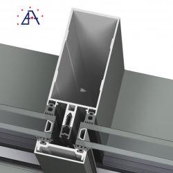 Wärmeisolierende Glaswand mit Aluminiumrahmen
