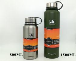 Большая емкость 610 мл 800 мл 1100 мл 1500 мл изолированный бутылка воды из нержавеющей стали на стене Doulbe спорта бачок для поощрения