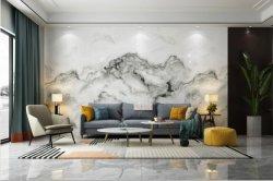 Pedra sinterizado parede interior em mármore, bancada de trabalho, casa de banho, decoração de azulejos do piso