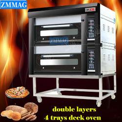 La Chine Energy Saving 2 plateaux 4 plateaux d'appareils de cuisine industrielle Four à pain et des tourteaux utilisés dans l'Hôtel & Restaurant (ZMC-204M)