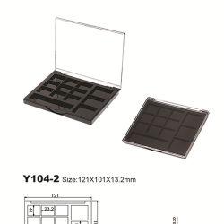 شكل فريد 12 لون حقيبة صغيرة من البلاستيك العين الظل صندوق تجميلي التغليف Y104-2