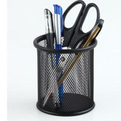 Bureau noir grillage de métal Pen018-1 Porte-crayon (MS/2)