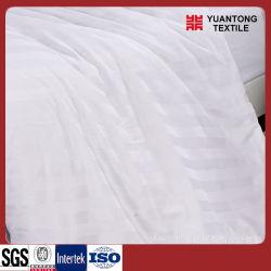 De color blanco de la ropa de cama de algodón/poliéster tejido de hoja