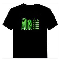 Maglietta personalizzata di disegno LED, maglietta di EL per la buona Guality maglietta lampeggiante di Promotion&Advising