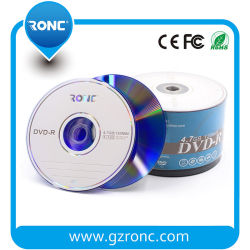 Commerce de gros vide DVDR 4.7GB/16X /120mn