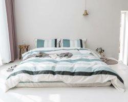 Le design de mode appartement pour utiliser 4morceau de 100% coton imprimé ensembles de literie de haute qualité drap de lit