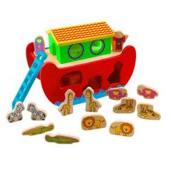 El Arca de Noé de madera juguetes para niños y los niños