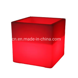 Contenitore del cubo del vino di Champagne del PE della benna di ghiaccio di RGB LED da vendere