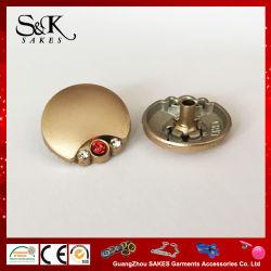 Горячие продажи цинка металлического сплава стопорное кнопка с камня для одежды