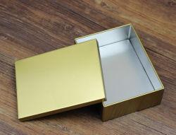 Caja de estaño rectangular de cigarrillos por caramelos de café las cookies de chocolate