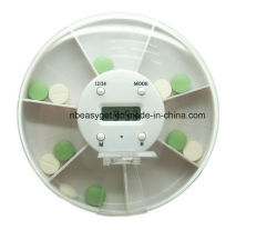 7 Grid Intelligent Pill Organizer, 4 Groups Alarm Clock Pill Dispenser Electronic Medication Reminder for elderly Hospitals Weekly Pill Box Esg10058