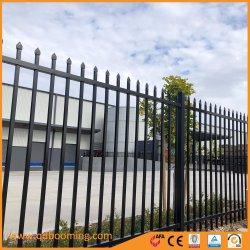 Revestimiento de polvo de acero galvanizado Jardín valla de seguridad