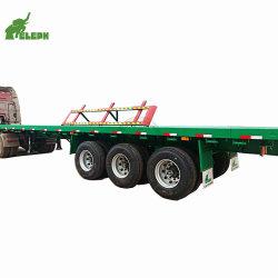 Eleph hizo Semi-Trailer plana de 3 ejes de transporte de contenedores de 40 pies