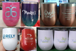 12oz Stainless Steel Double Wall Insulated Vacuum Wine Cup Beer Mug 12oz Eggshape Cup Mixed Color Package