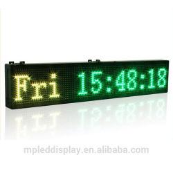 Outdoor GPS temps réel/compter jusqu'/ Fonction Affichage du compte à rebours du temps et de la température de l'humidité signe de l'horloge à LED