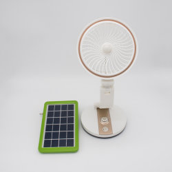 Ventilador Solar con solar Solar LED Lámpara de luz de emergencia con DC FAN 2020