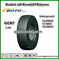 Китай OTR шины напрямик радиальные шины OTR дна шины 12.00R24 1200R24 17,5 R25 18.00R25 1800R25 L-5s Gcb7хорошую производительность подземных шины Boto дважды медали давление в шинах