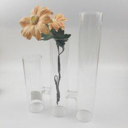 Высокая Боросиликатного судов стороны стеклянных ваза судов три стеклянные украшения
