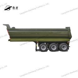 3 U / d'essieu de forme carrée Dumper Dumping côté hydraulique de benne basculante/Back/arrière/Fin Tipping Camion semi remorque de décharge