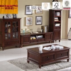 Negro antiguo Laca de TV soporte de madera / TV Gabinete (GSP13-010)