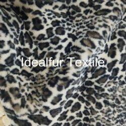 Fashion Leopard fourrure artificielle d'impression