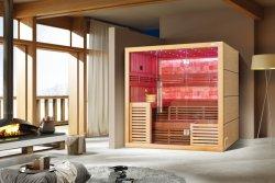 La alta calidad de madera de cedro canadiense Harvia Diseño de gama alta del calentador Sauna Casa (M-6055)
