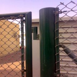 Galvanizado revestido de PVC elo da corrente de cerca de Diamante