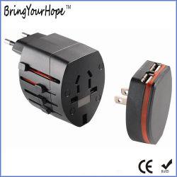 Межстрановой универсальное Дорожный адаптер переменного тока с Plug-in зарядное устройство USB (XH-UC-040)