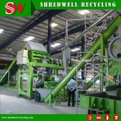 سحق خط إعادة التدوير الممتاز ذو الإطار المستنفد/الخردة/النفايات إلى المطاط الأرضي الذي يبلغ 1.5 مم