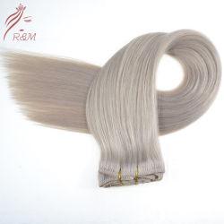 Cheveux humains vierges chinois réel de clips dans les Extensions de cheveux avec plein de cuticules