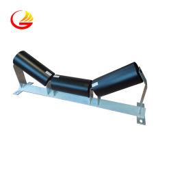SPD物品取扱いの低い放射状のふれのたらいは鋼鉄ベルト・コンベヤーのアイドラーフレームのローラーを運ぶ