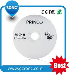 Esempio gratuito di disco DVD-R Princo 16X all'ingrosso CD DVD vuoto