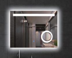 Verlichtte de muur Opgezette Badkamers van Fogless van het Glas Backlit Lichte LEIDENE Decoratieve Spiegel van de Spiegel