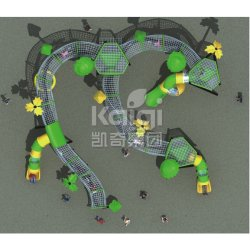 Cuerda al aire libre juegos de entretenimiento de la serie de escalada